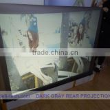 Dark grey color projection screen fabric ,holographic Projection screen for window advertisig!!