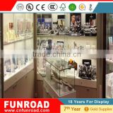 latest Design Plywood Baking Paint Jewelry Glass Vitrine Display Showcase For Sale From FUNROAD