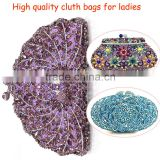 2016 Top quality bridal clutch/Beautiful bags handbag for ladies/Handmade bag crystal for party