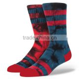 Design Own Socks and Custom Logo Comfortable Cotton Blend Ribbed Boot Men Custom Sublimated Socks