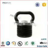 Cast iron adjustable kettle bell body building strength training weights