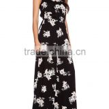 2015 new fashion Ladies floral print rayon strappy adult jumpsuit pajama