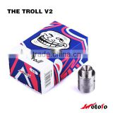 vape pen from china supplier Best selling The Troll V2 rda authentic,The Troll RDA V2,cera rda with peek insulator
