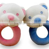 cartoon soft plush rattle toy for baby,Plush Bear Rattle Toy,Plush Small Rattle Bear Toy