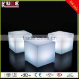 RGB color changing waterproof led light cube, iluminated led cube chair, led cube For Party