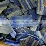 wholesale cheap natural blue lapis stone slice rough crystal gemstone