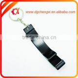 Cheap Black Aluminium Alloy Bottle Opener Keychain manufacturer