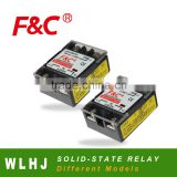 F&C solid-state relay, WLHJ series, DC or AC control, different voltage and currents.