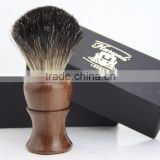 BRAND NEW - 100% PURE BADGER HAIR SHAVING BRUSH - Rose Wood Wooden Brush