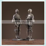 resin Gothic armour knight figurine Gothic armour knight statue for home decoration