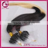 New arrival finish loop hair extension, remy human hair extension micro ring loop hair extension
