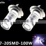 High lumen led Sharp chip crees bulb H7 Led 100W daytime running light