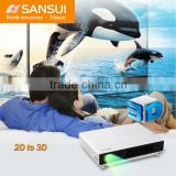 LED Mini Convert 2D to 3D Top Light 900 Lumens High Brightness 3D mini projector with tv tuner