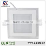 2 YEARS WARRANTY Glass Lamp Cover 12W SMD LED Square Ceiling Light