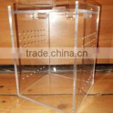 The clean acrylic reptile terrarium display cases breeding cage for pet and small animals