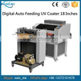 Multi-rollers Automatic Feeding UV Coating Machine with Auto Feeder Device