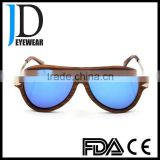 big face navy blue sun lenses pilot style real wooden sunglasses rosewood sun glasses