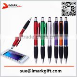 Promotional multi function touch ball Pen With Screen Cleaner color barrel stylus pen