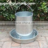 Galvanized hanging feeder for chickens