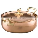 High quality Copper serving Dish