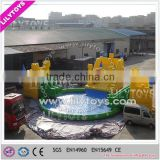 Factory price inflatable entertainment pool park/pool with giant slide/China water park playground
