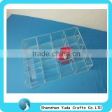 acrylic box divider,jewelry display tray,clear acrylic jewelry organizer box