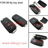 VW remote key flip key shell 3 button VW key(with screw, words on the side)