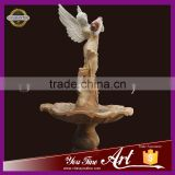 angel pour marble water fountain for garden