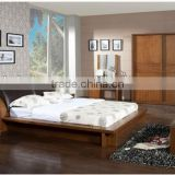 Contemporary Bedroom Solid Wooden Furniture,Casual Box Bed,Malaysia Bedroom Natural Solid Wood Bed,Home Bedroom Furniture Set