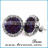 Druzy 925 Sterling Silver Earring, Beautiful Silver Jewelry, Wholesale Silver Jewellery Jaipur India