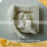 antique white stone wall relief statue for sale