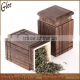 Burned Paulownia Wood Tea Canister Wholesale
