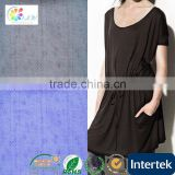 50%coolmax 50%polyester knitted mesh fabric for T-shirt embroidery organza dresses beaded