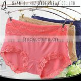 2015 New design hot sale lace lace comfortable cute high quality underwear sexy women's breathable boxer briefs woman underpants