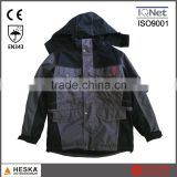 Hot selling letterman 300d polyester oxford fabric with pu coating workwear water proof jacket with EN343