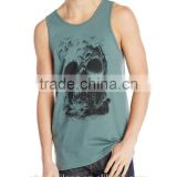 adults age group mens good quality oem service custom wholesale skull printing gym singlet/tank top