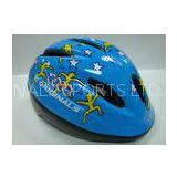 Round Specialized Kids Bicycle Helmets Blue Cartoon Graphics 190G CE / SGS