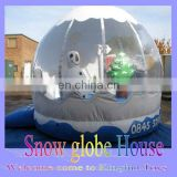 2015 Christams inflatable snow house/new year bouncer