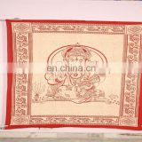 lord Ganesh Cotton Mandala Wall Hanging Mat Tapestry
