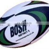 leather synthetic rubber rugby ball