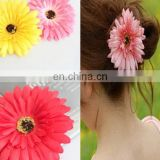 Daisy satin flower hairpins,colorful artificial flower Hair clip for beach holiday jewelry