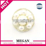 wholesale snap jewelry button flower metal rhinestone pearl buttons