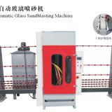 Automatic sand blasting machine for glass and stone