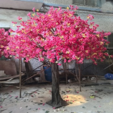 simulation 3.5 meter pink cherry tree with natural leaves