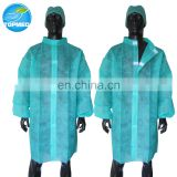 Disposable nonwoven visitor gown disposable lab coat lab gown