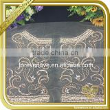 Wholesale handmade bridal rhinestone appliques custom embroidery patches for clothing FHA-053