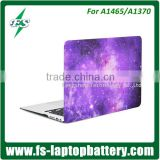 Dreamy purple crystal laptop case cover for Macbook A1465 A1370 customized laptop cover shell