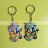 2015 China OEM manufacturer promotional 2d 3d custom soft PVC rubber keychain with SEDEX certified