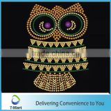 cheap owl strass motif hotfix rhinestone design