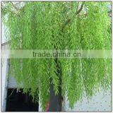 Fiberglass, plastic leaf,fiberglass trunk Material and Trees Plant Type Artificial Wepping Willow Tree for outdoor decoration